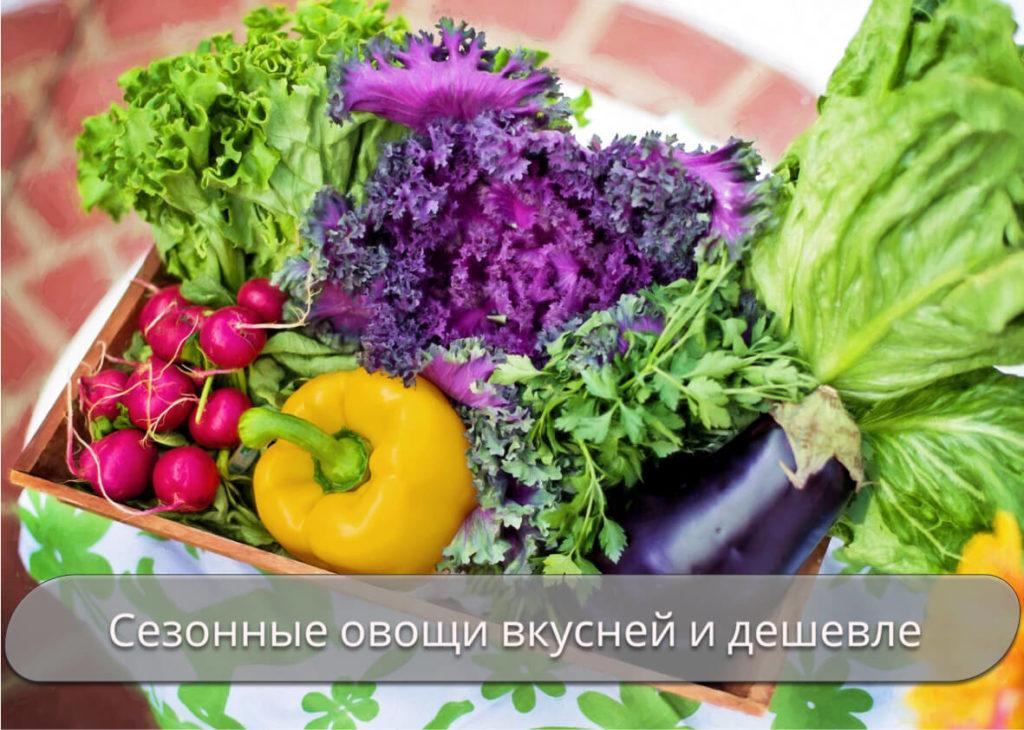 Вкусные и недорогие сезонные офвощи